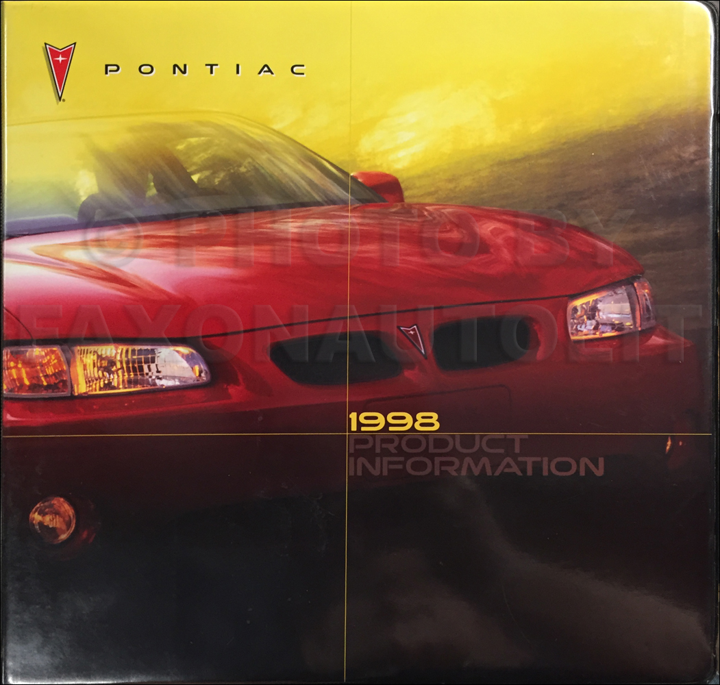 1998 Pontiac Data Book, Color & Upholstery Dealer Album Original