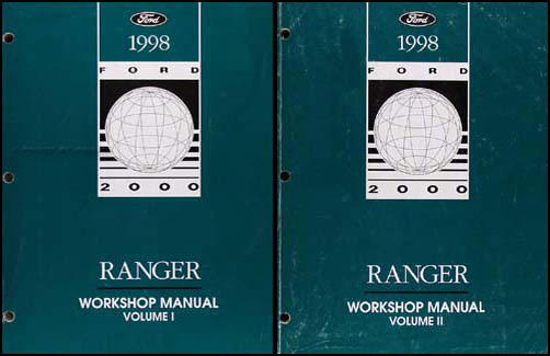 1998 Ford Ranger Repair Manual Original 2 Volume Set