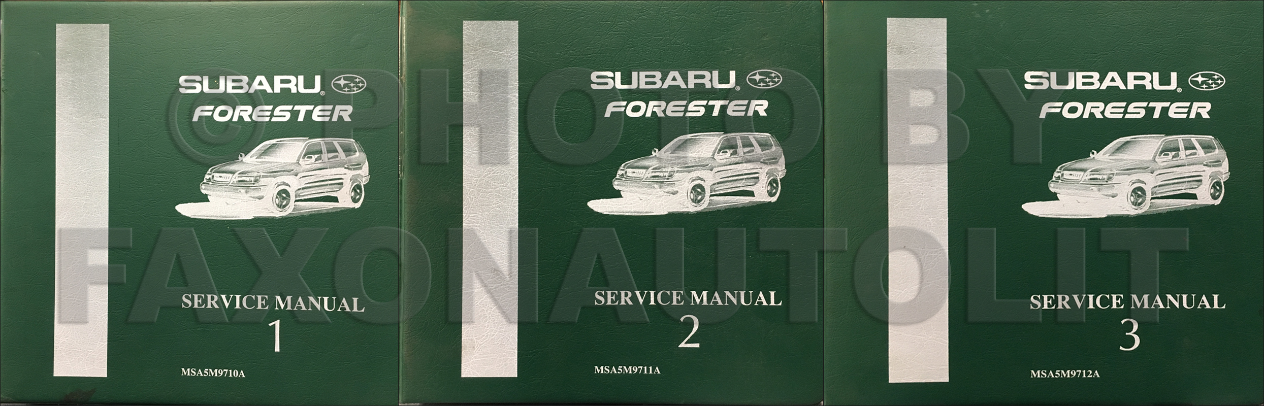 1998 Subaru Forester Repair Shop Manual Original 3 Volume Set $189.00