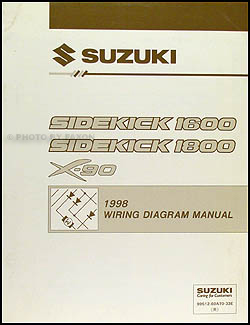 1998 Suzuki Sidekick 1600 and Sport 1800 X-90 Wiring Diagram Manual