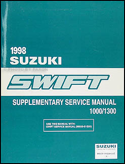 1998 Suzuki Swift 1000/1300 Repair Manual Original Supplement