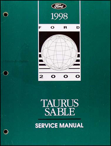 1998 Ford Taurus and Mercury Sable Shop Manual Original