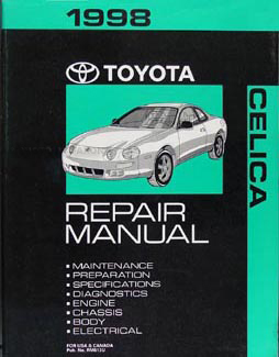 1998 Toyota Celica Repair Manual Original