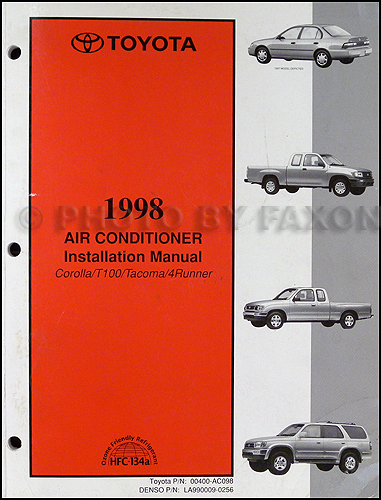 1998 Toyota Air Conditioner Installation Manual Original Corolla T100 Tacoma 4Runner