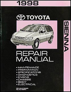 1998 Toyota Sienna Repair Manual Original