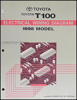 1998 Toyota T100 Truck Wiring Diagram Manual Original