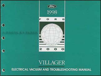 1998 Mercury Villager Electrical and Vacuum Troubleshooting Manual