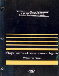 1998 Mercury Villager Engine and Emissions Diagnosis Manual