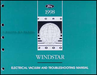 1998 Ford Windstar Repair & Electrical Troubleshooting Manual Supp.