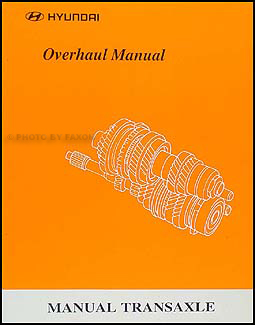 1999-2000 Hyundai Manual Transaxle Overhaul Manual Original