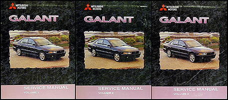 1999-2000 Mitsubishi Galant Repair Manual Set Original