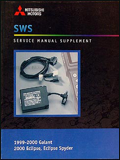 1999-2000 Mitsubishi Galant & 2000 Eclipse & Spyder Repair Shop Manual Diagnosis Supp