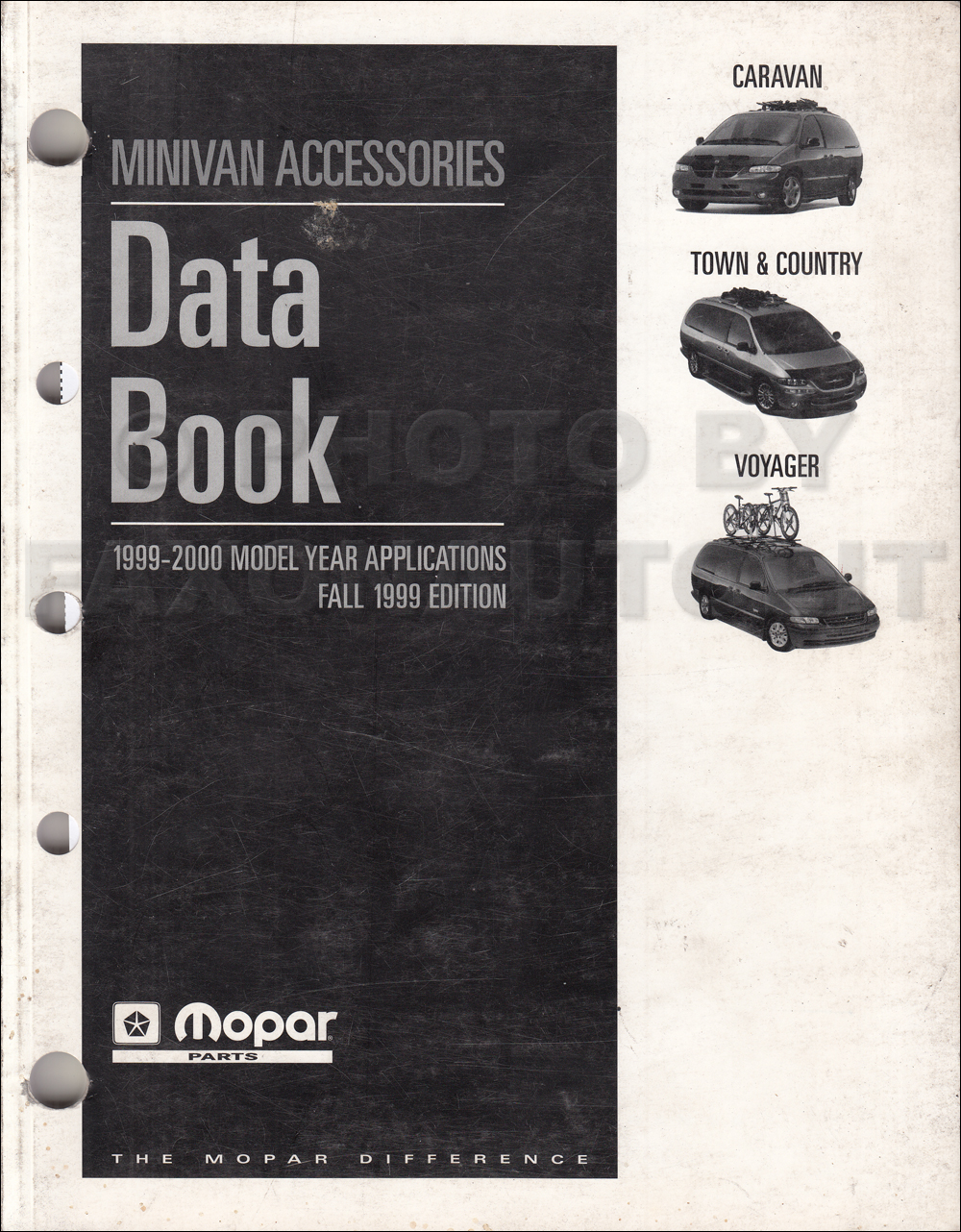 1999-2000 MoPar Minivan Accessories Fall Data Book Original