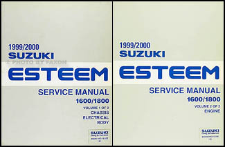 1999 2000 suzuki esteem repair shop manual set original 1600 1800 Suzuki Esteem Common Problems 1999 2000 suzuki esteem repair manual set original