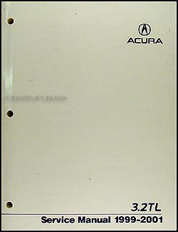 1999-2001 Acura 3.2 TL Repair Manual Original