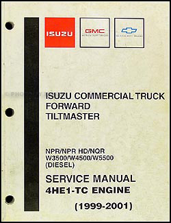 1999-2004 Diesel Engine 4E1-TC Repair Shop Manual Original NPR NQR W3500 W4500 W5500