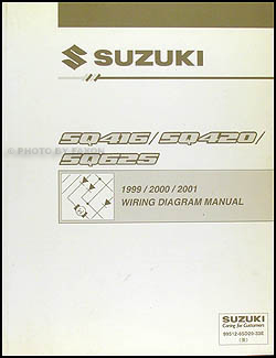 1999-2001 Suzuki Vitara & Grand Vitara Wiring Diagram Original