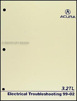 1999-2002 Acura 3.2 TL Electrical Troubleshooting Manual Original