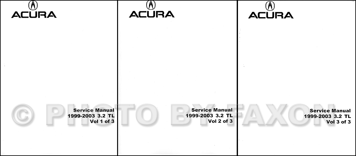 1999-2003 Acura 3.2 TL Shop Manual