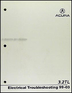 1999 Acura 3.2 TL Electrical Troubleshooting Manual NEW Wiring Diagram Book 99