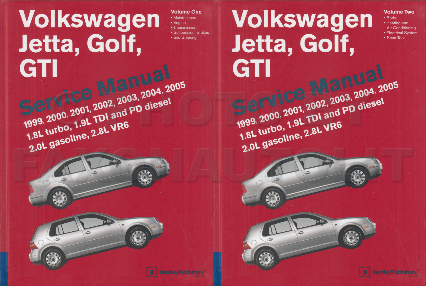1999-2005 VW Jetta, Golf, GTI Bentley Repair Shop Manual $129.00