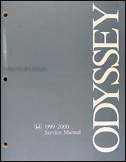1999-2000 Honda Odyssey Repair Manual Original