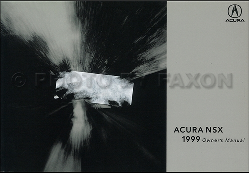 1999 Acura NSX Owners Manual Original
