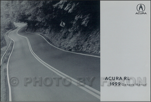 1999 Acura RL Owners Manual Original