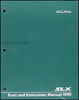 1999 Acura SLX Fuel and Emissions Manual Original