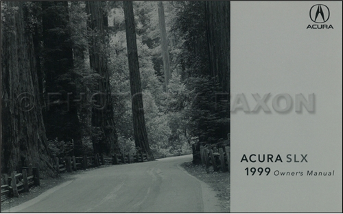 1999 Acura SLX Owners Manual Original