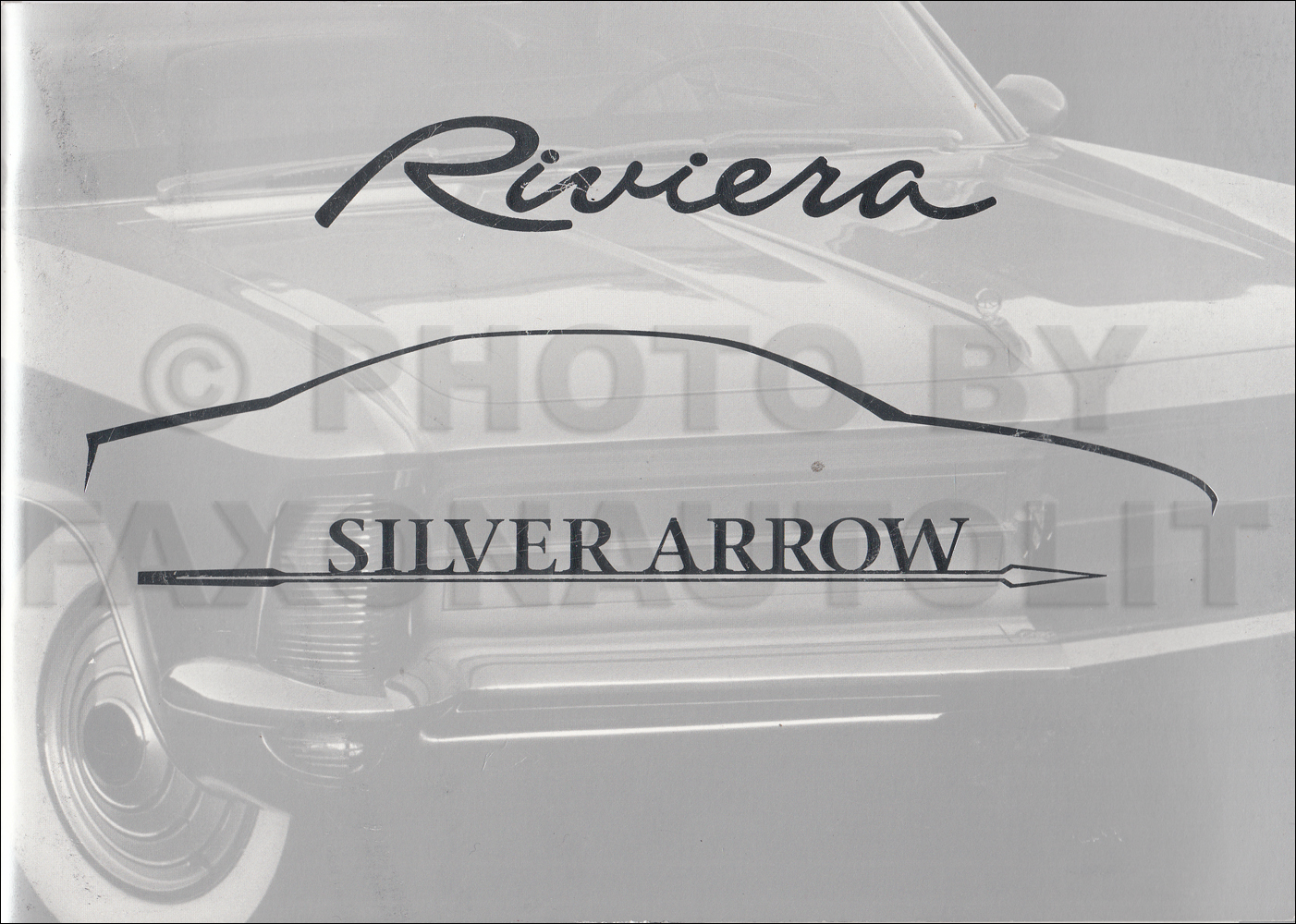 1999 Buick Riviera Silver Arrow Original Sales Catalog with 1963-1999  Riviera History
