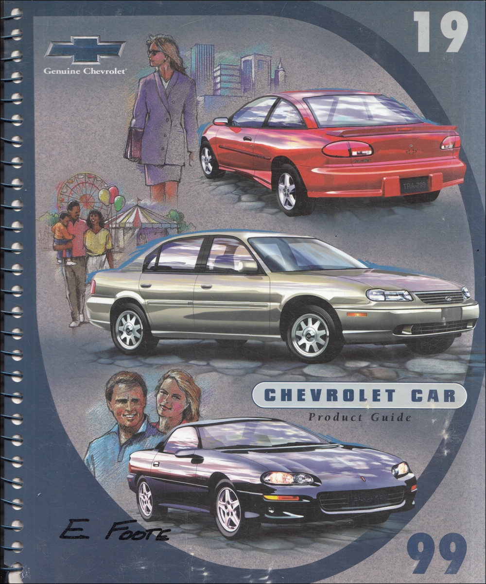 1999 Chevrolet Car Data Book Dealer Album with Color and Upholstery Original