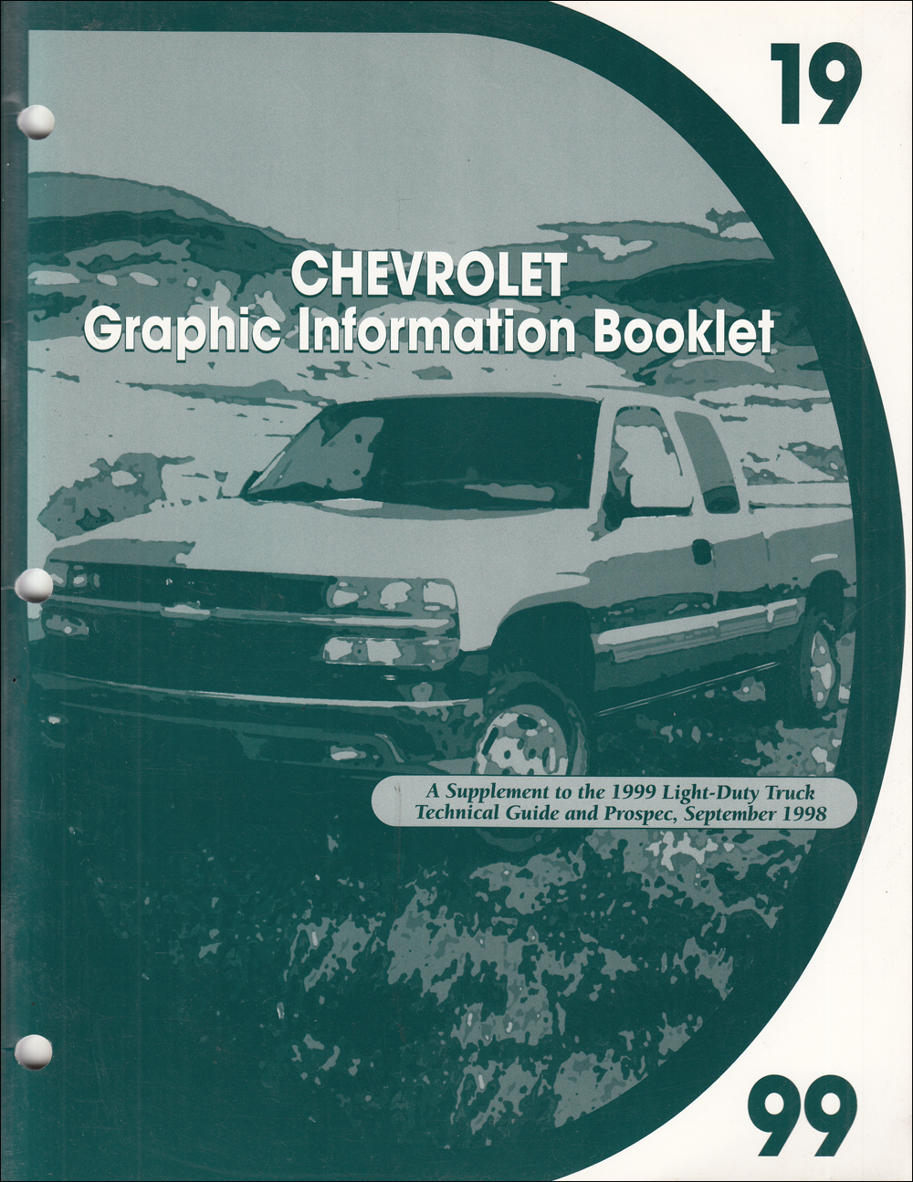 1999 Chevrolet Truck Graphic Booklet Original Dealer Album Supplement