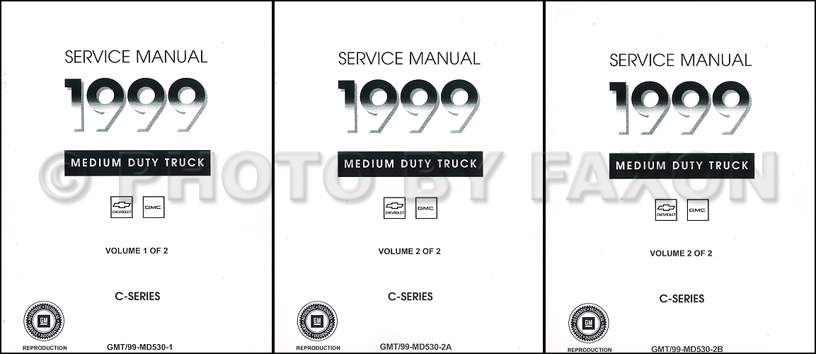 1999 Topkick  U0026 Kodiak C 7000 Repair Shop Manual Original 2 Volume Set