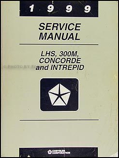 1999 Concorde, Intrepid, LHS, & 300M Shop Manual Original