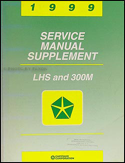 1999 Chrysler LHS & 300M Shop Manual Original Supplement