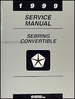 1999 Sebring Convertible Shop Manual Original