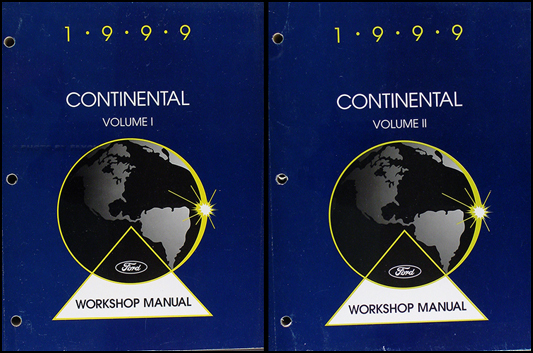 1999 Lincoln Continental Shop Manual Original 2 Volume Set