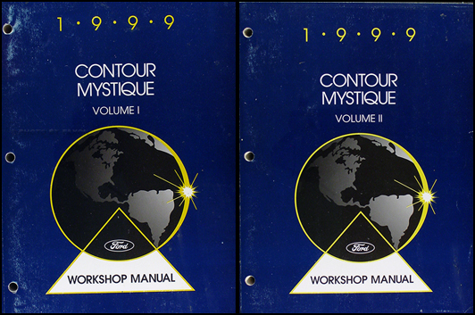 1999 Ford Contour & Mercury Mystique Shop Manual Original 2 Volume Set