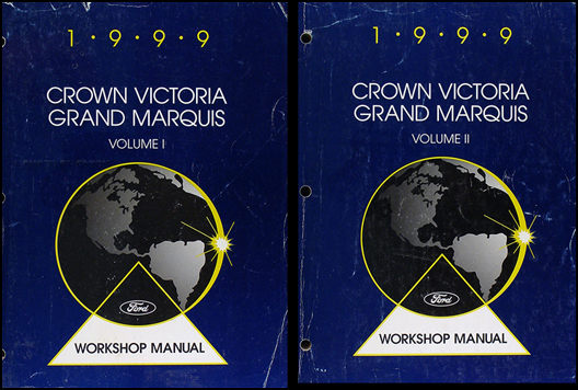 1999 Ford Crown Victoria Mercury Grand Marquis Repair Shop Manual 2 Vol. Set