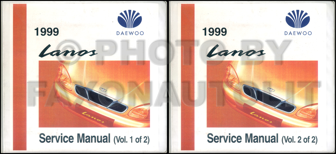 1999 Daewoo Lanos Wiring Diagram Manual Original