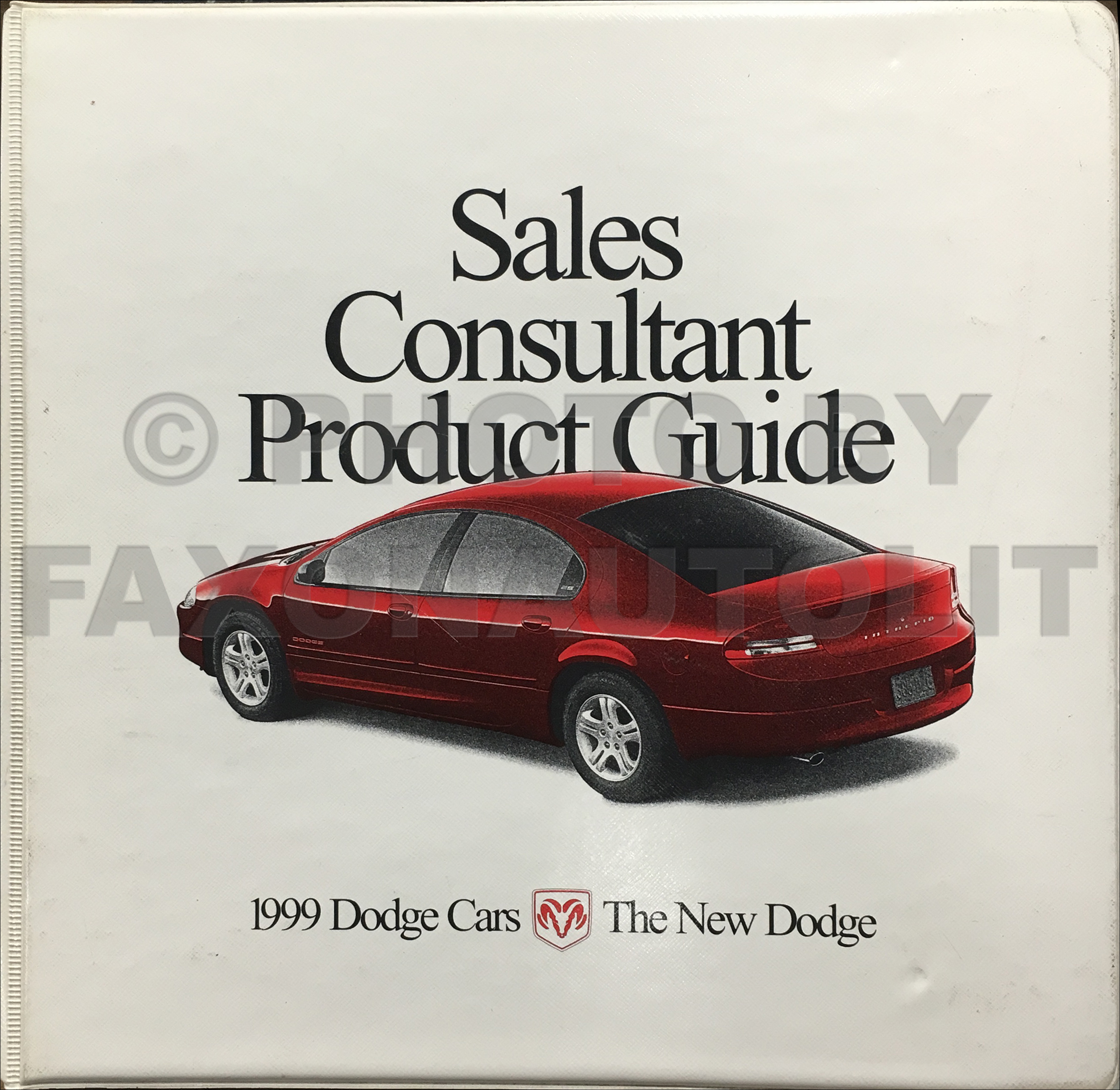 1999 Dodge Car Sales Consultant Product Guide Original