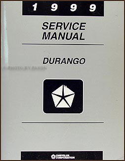 1999 Dodge Durango Repair Manual Original
