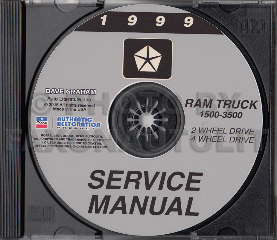 1999 Dodge Ram 1500-3500 Truck Repair Shop Manual CD