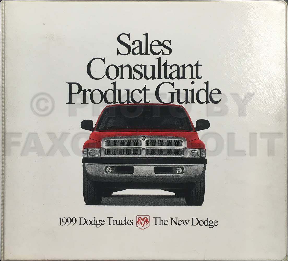 1999 Dodge Truck Sales Consultant Product Guide Dealer Album Original