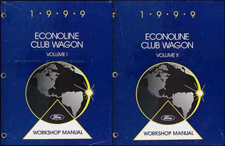 1999 Ford Econoline Van & Club Wagon Repair Shop Manual Set Original