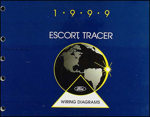 1999 Escort and ZX-2 and Tracer Wiring Diagram Manual Original