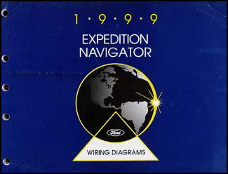 1999 Ford Expedition Lincoln Navigator Wiring Diagram Manual Original