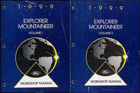 1999 Ford Explorer Mercury Mountaineer Repair Shop Manual Original Set of 2