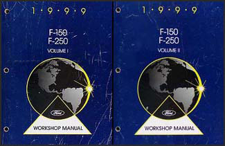 1999 Ford F-150 and F-250 under 8500 GVWR Repair Shop Manual Set Original